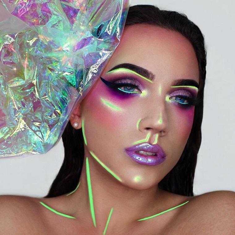 maquillage-beau-coloré-halloween