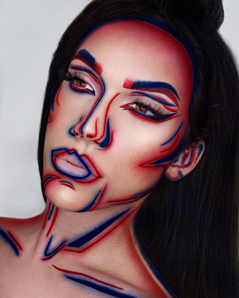 maquillage-belle-coloré-halloween-idées