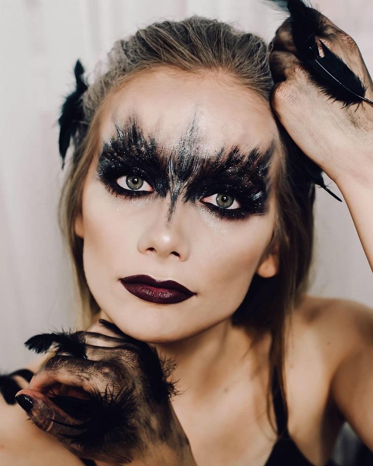options de maquillage halloween-swan-noir
