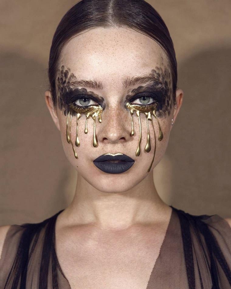 maquillage halloween-swan-black-interpretation