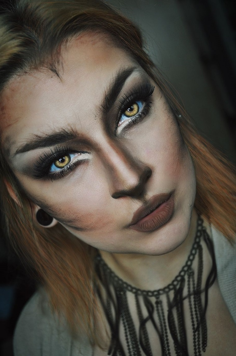 maquillage-halloween-animal-homme-loup