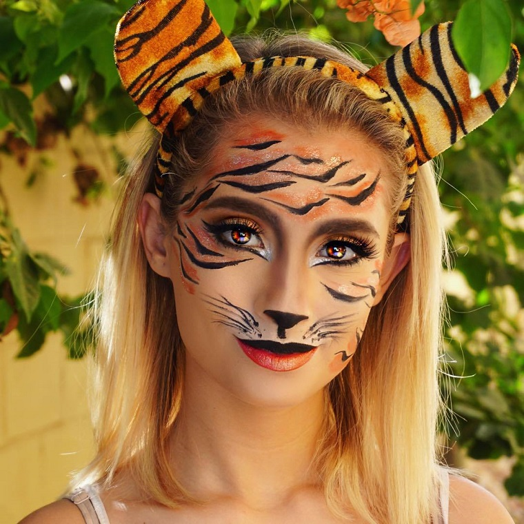 maquillage-Halloween-tigre