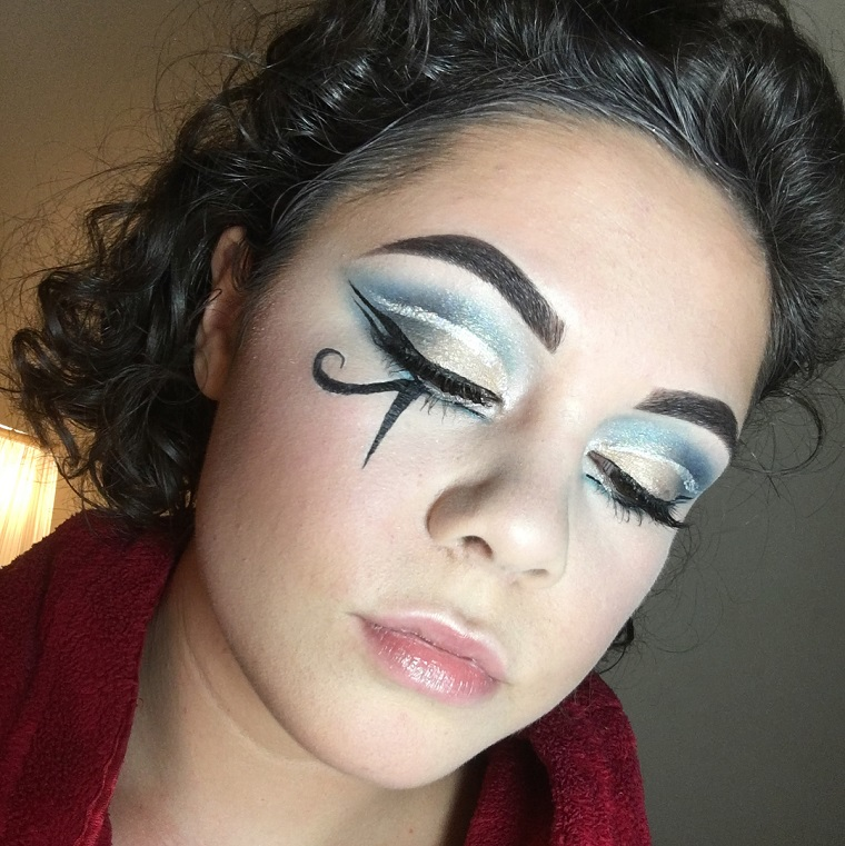 maquillaje-halloween-cleopatra-idées-originales-estilo