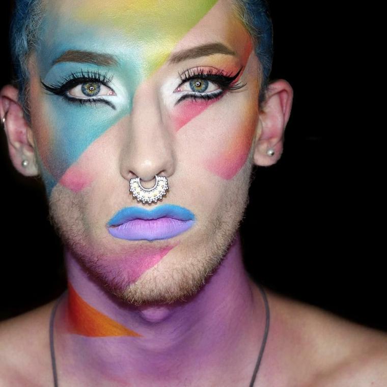 maquillage-homme-coloré-options-idées