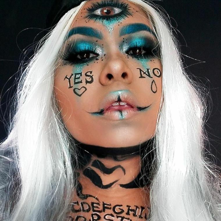 maquillage-original-femme-bohème
