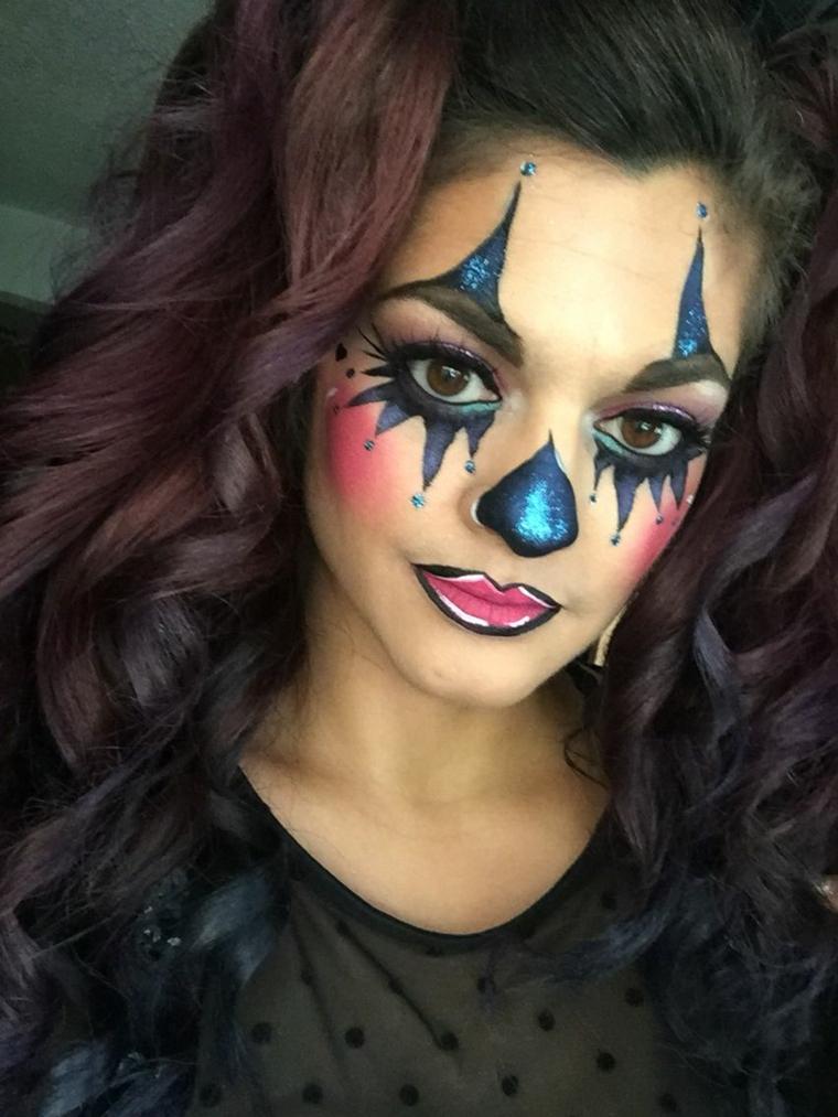 maquillage-clown-idées-fête-halloween