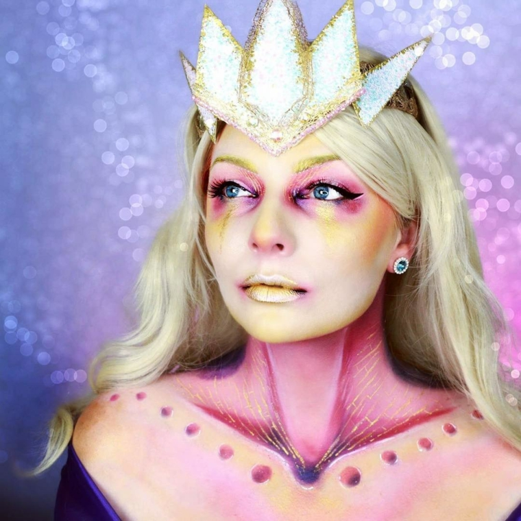 maquillage-princesse-hallo-ween-style moderne