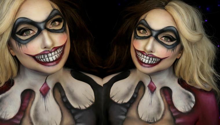 maquillage-effrayant-halloween-fête-clown-idées