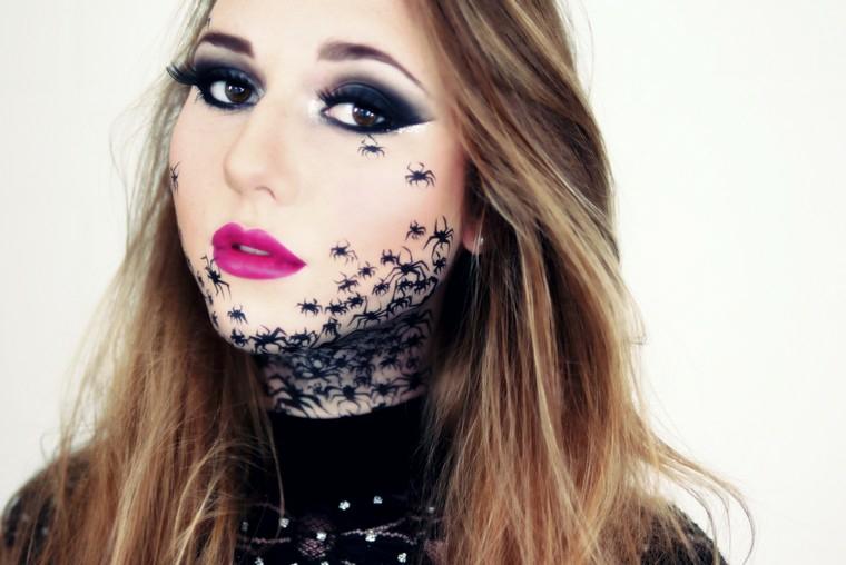 femme-araignée-maquillage-style moderne