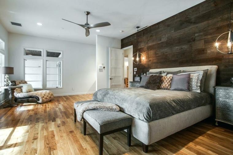 bois mur de tête de lit