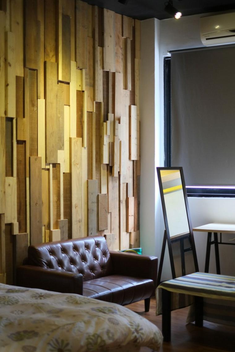 mur daccent en bois avec relief