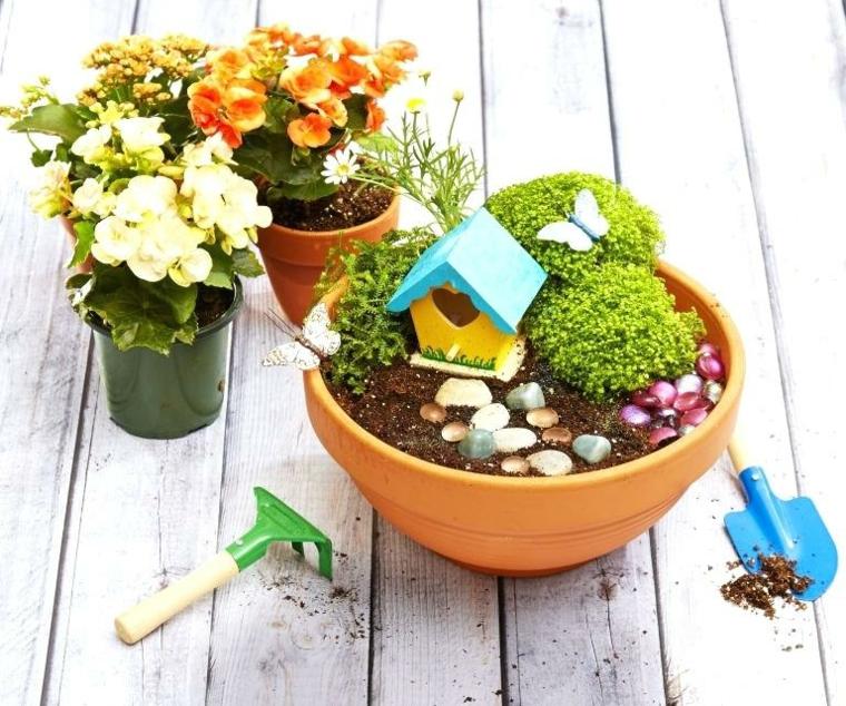 Faire un jardin miniature