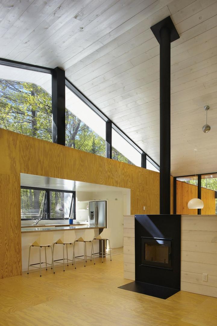bois intérieur architecture moderne