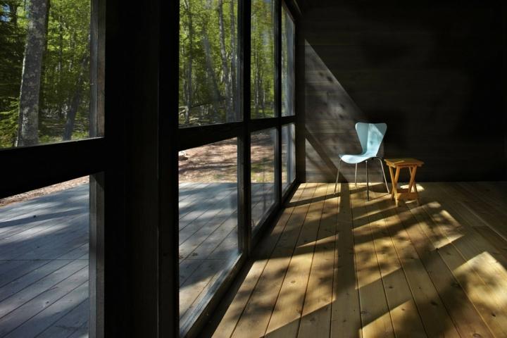 plancher de bois intérieur architecture moderne