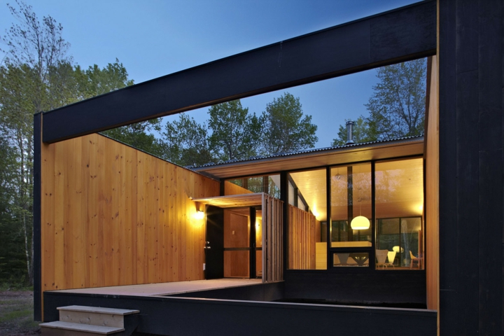bois extérieur de porche