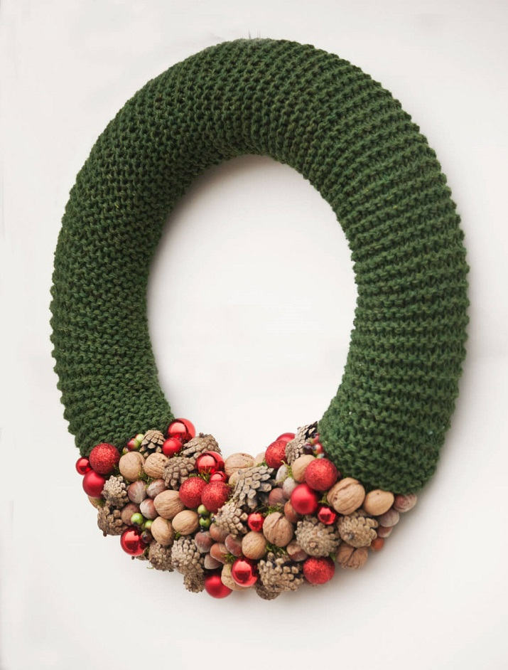 arrangements de Noël tissés verts