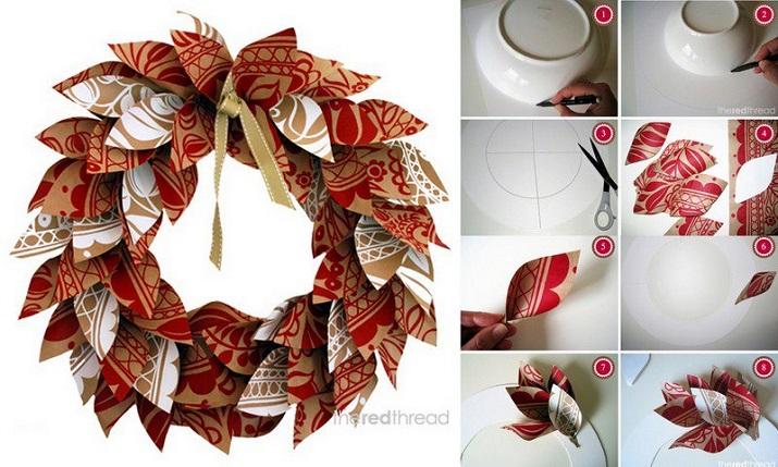 décorations modernes en papier recyclé