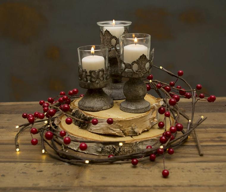 idées pour décorer avec des bougies de noël
