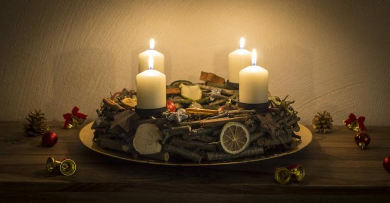 arrangements pour bougies de noel