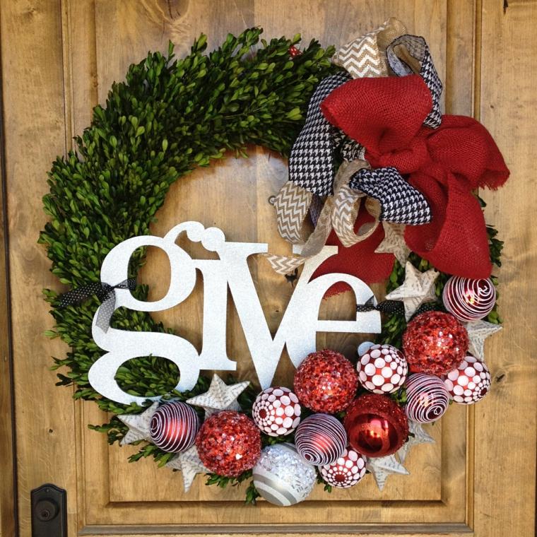Arrangements de porte de Noël