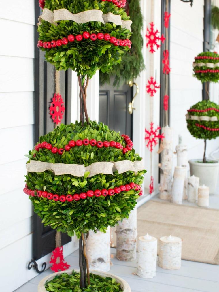 comment faire des décorations de Noël en plein air