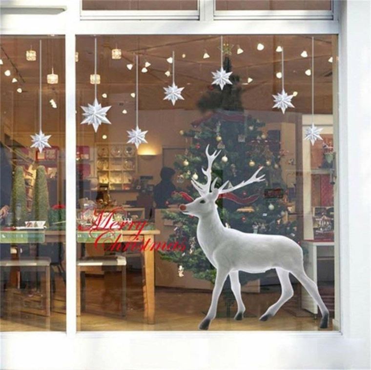 arrangements de Noël fenêtre de cerf