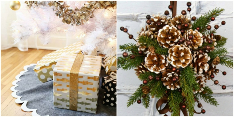 Arrangements de Noël pour décorer la table