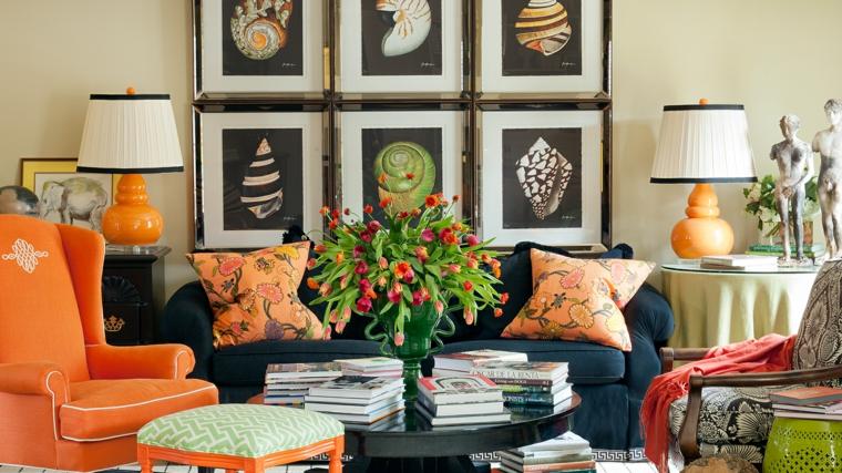 Arrangements-floral-beau-salon-mobilier-couleurs