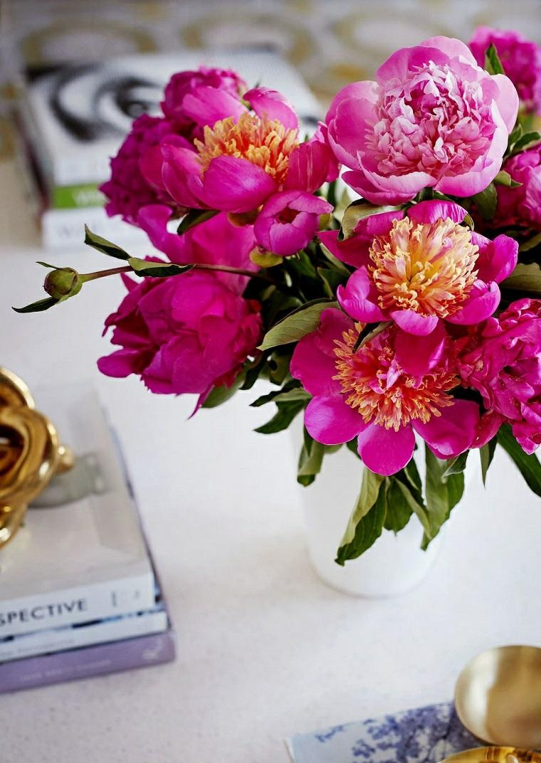 bouquet-pivoines-décorer-maison-idées