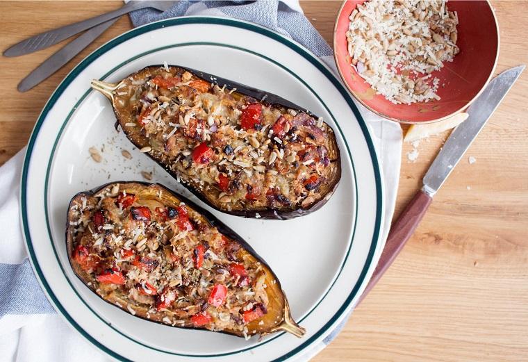 aubergines farcies au thon-recette-options-diner-diner