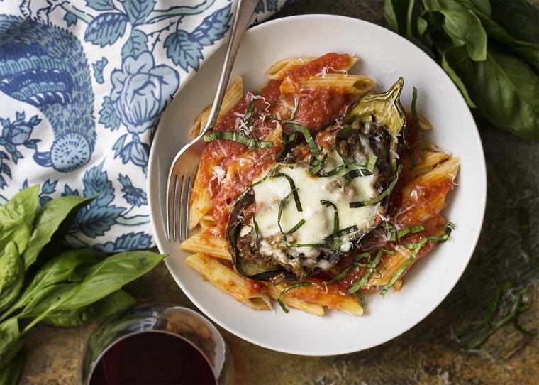 aubergines farcies-idées-recette-fromage-parmesan