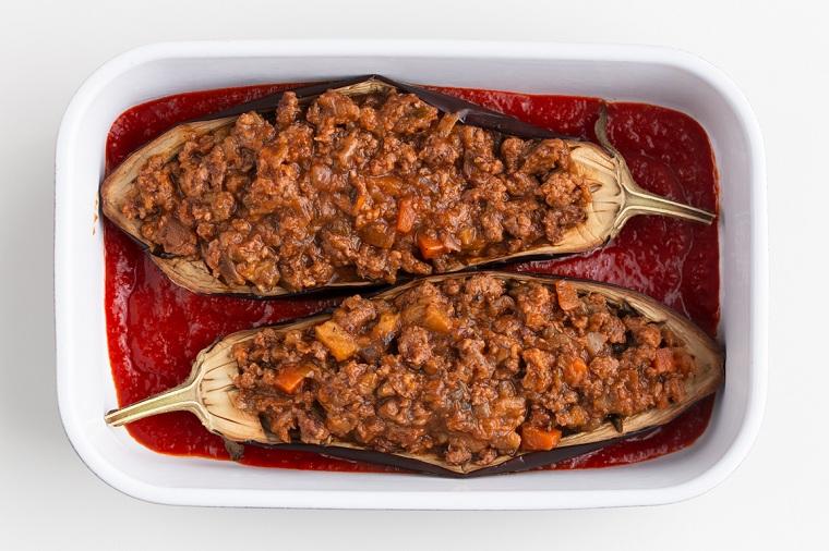 sauce végétalienne farcie aux aubergines
