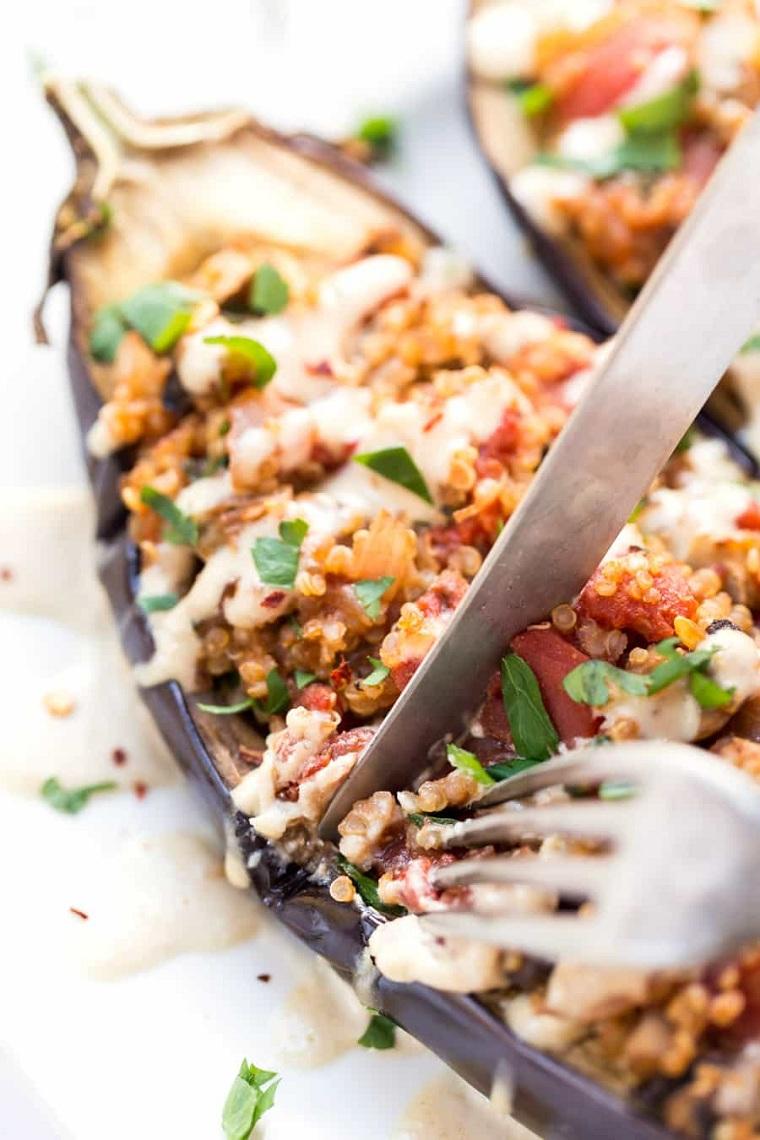 aubergines-rellanas-quinoa-idées-alimentaires