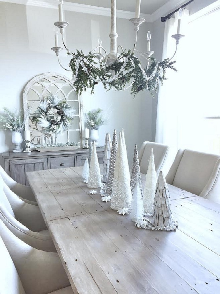 arbres-noel-blanc-petite-decorer-table
