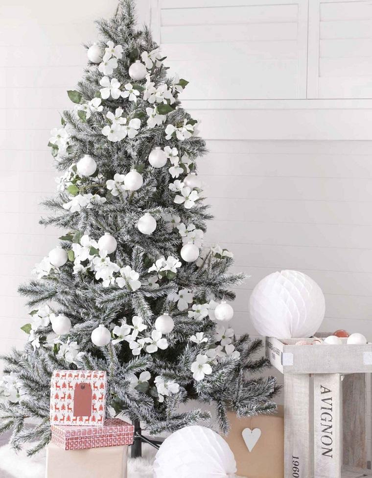 blanc noël-style-arbre-belle