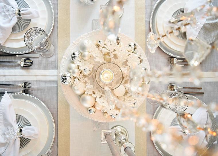idées-décorer-table-blanc-argent-design