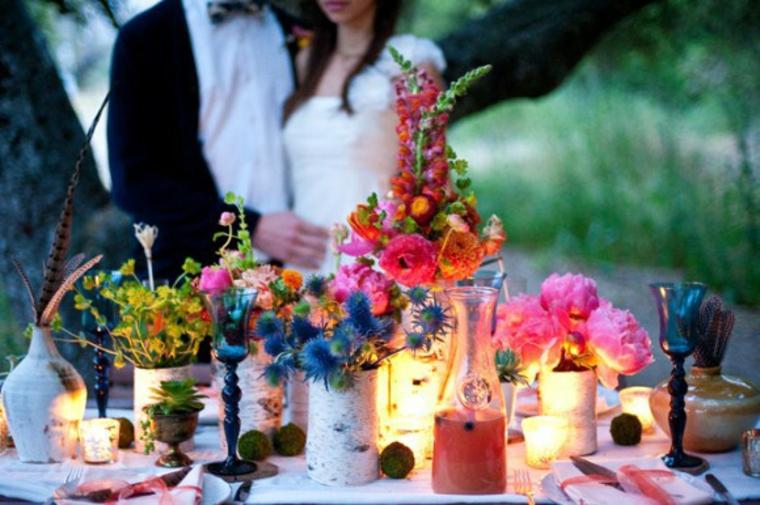 boho chic décoration de mariage