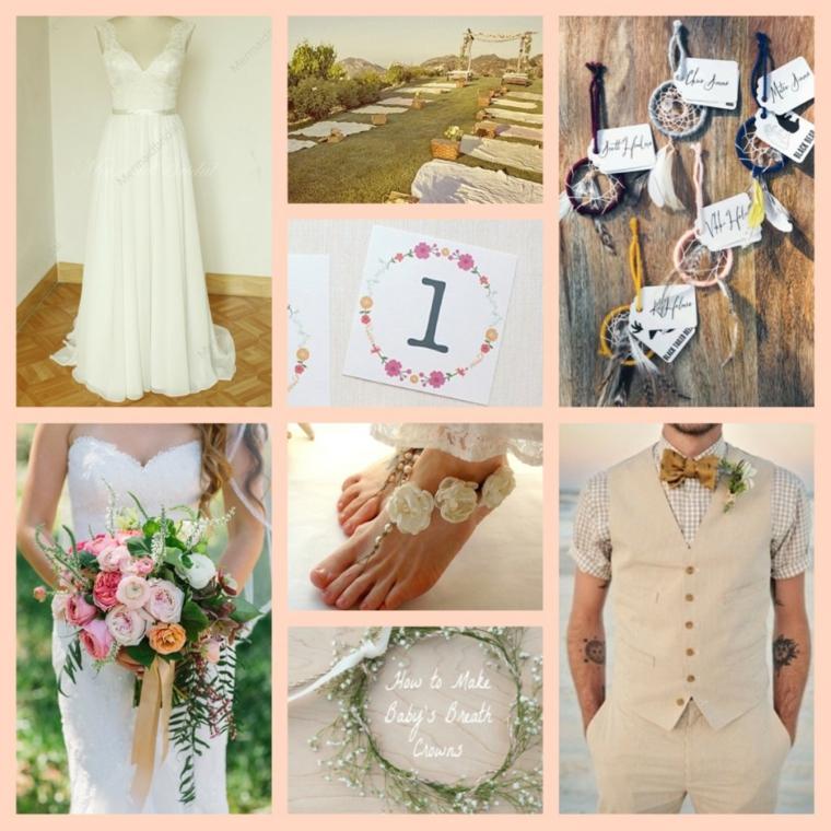 idées pour mariages de style boho chic