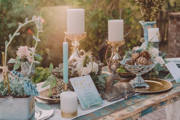 table de style boho