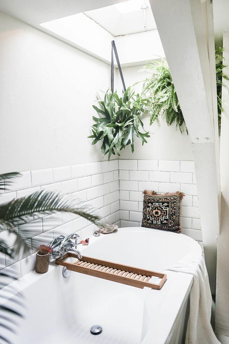 dessins de salles de bains avec plantes