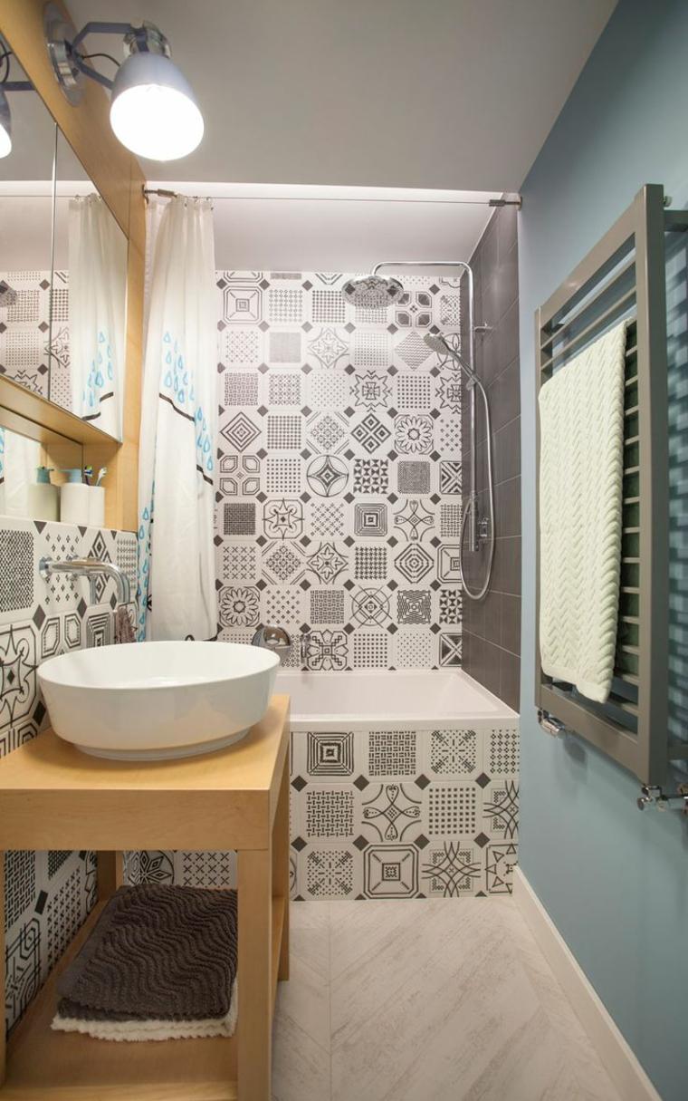 style bohème dans les salles de bain