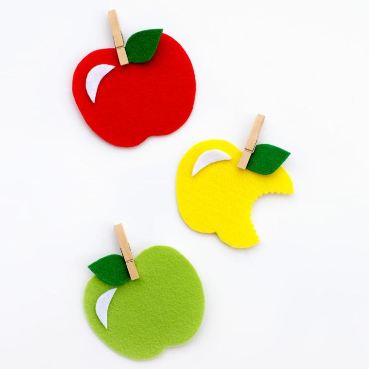 artisanat facile pour les pommes des enfants