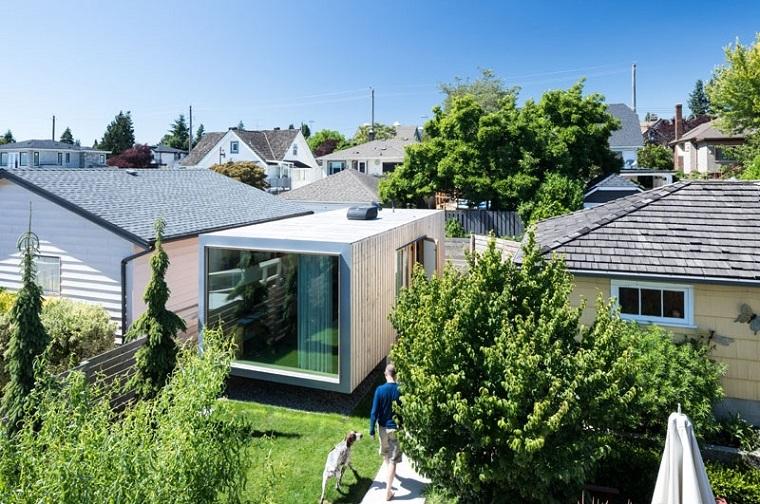 bureaux modernes jardins extérieurs