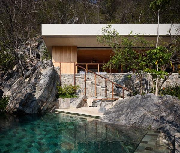 Piscine design cabanes en bois