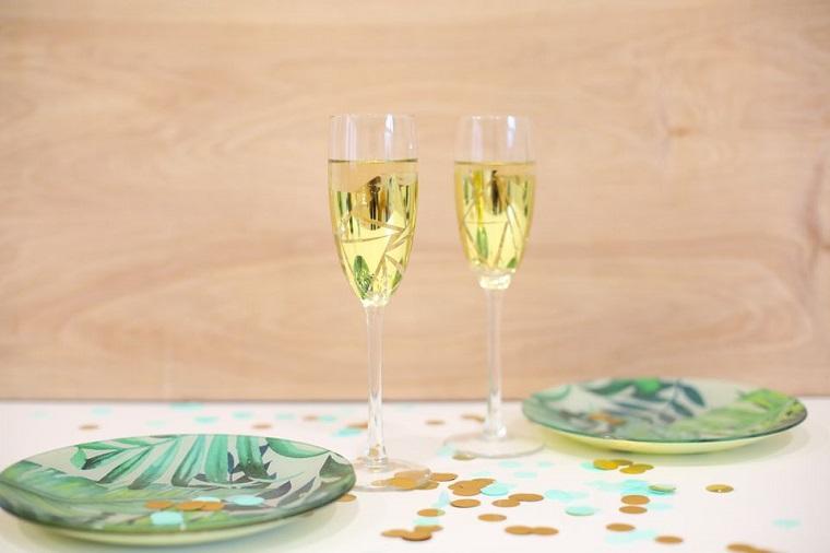 cadeaux de bricolage -copas-champan-oro