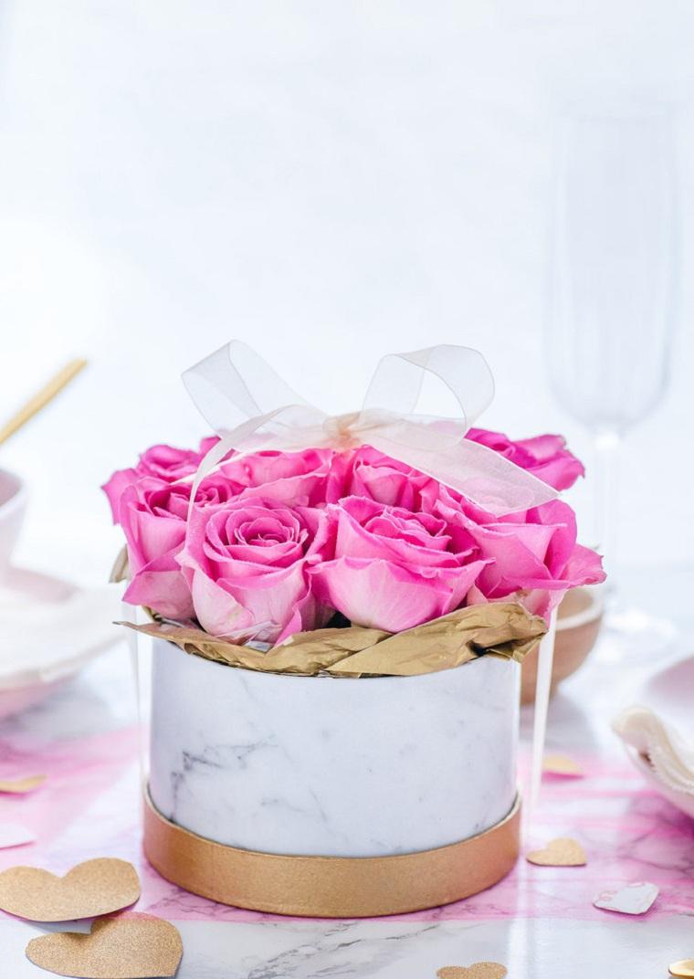 Boîtes de roses bricolage