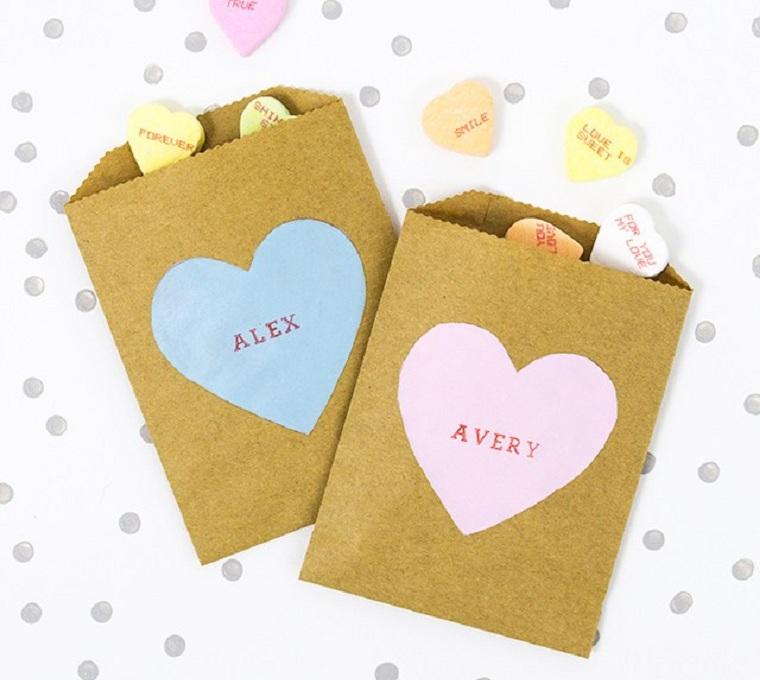 sac pour bonbons à la saint valentin