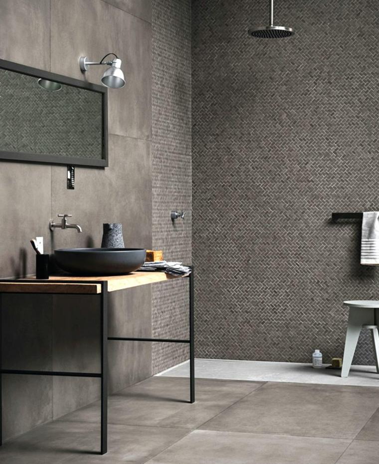 combinez des carreaux de salle de bains modernes