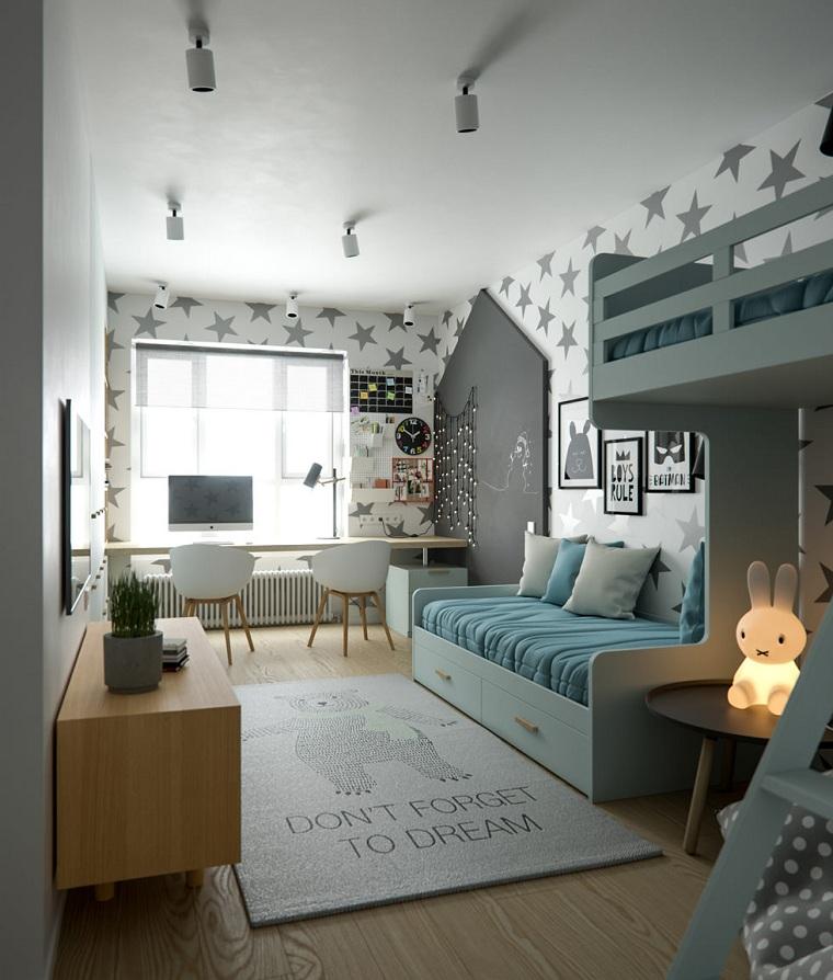chambre denfants blanche-idées-détails-mur