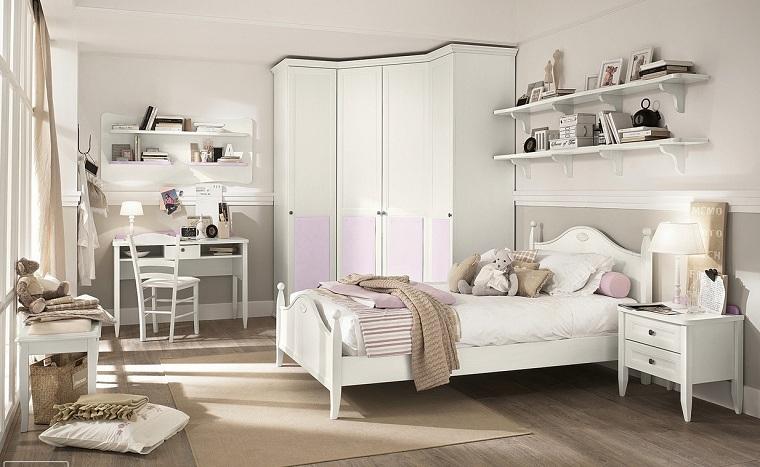 chambre-enfant-blanc-rose-combinaison